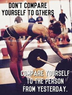 Don't compare yourself to others!! Everyone is different!