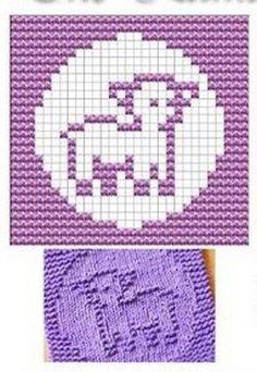 Lamb Knit Dishcloths Pattern