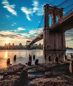 Brooklyn Bridge. NYC Yes Folks that's right, the Brooklyn bridge built in the 1880's is completely Gothic Revival style architecture.