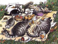 Bernard Kliban. Cat Dreams. Воплощенные мечты любого кота