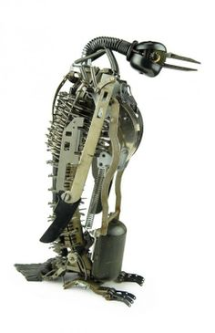 Jeremy Mayer Recycled Typewriter sculptures in art  with Typewriter Sculpture Art
