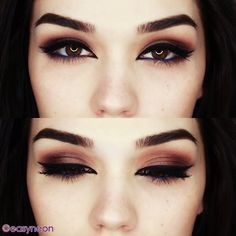 blue eyeliner - dark makeup for brown eyes #eye_makeup