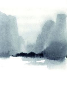 Ink Drawings II by Aurore de la Morinerie — Creative Exchange Agency Watercolor Landscape, Abstract Watercolor, Watercolor And Ink, Abstract Landscape, Landscape Paintings, Watercolor Paintings, Watercolours, Chinese Landscape Painting, Monte Fuji