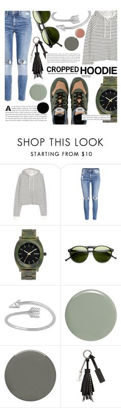 """""""Untitled #640"""" by ladybow ❤ liked on Polyvore featuring H&M, Nixon, Midsummer Star, RGB, Deborah Lippmann, Butter London and Yves Saint Laurent"""
