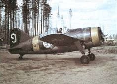 Colorized Photos and Artwork — redarmyscreaming: Brewster in Finnish. Cienfuegos, Ww2 Aircraft, Military Aircraft, Finland Air, Brewster Buffalo, Finnish Air Force, Ww2 Planes, Military Photos, Aircraft Design