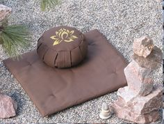Gorgeous! Zafu Zabuton Meditation Cushion Pillow set  LOTUS Brown. $129.99, via Etsy.