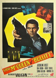Bullitt Italian Poster