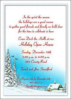 christmas party invitation wording | Christmas Invitations | Christmas Party Invitation