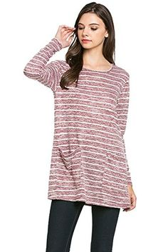 My Space Clothing round Neck Long Sleeve Front Pocket Stripe Sweater (X-Large, Burgundy) My Space Clothing http://www.amazon.com/dp/B01BDYORZ0/ref=cm_sw_r_pi_dp_I7JSwb0K5J2XK