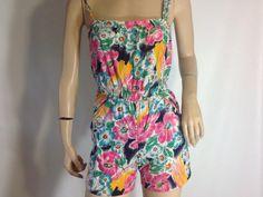 TINY Vintage Floral Romper Onsie Playsuit / by sixcatsfunVINTAGE