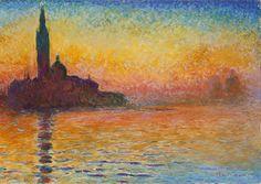 monet, san giorgio maggiore at dusk. Recreate in stained glass?