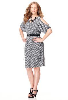 Plus Size Belted Cold Shoulder Dress | Plus Size Office & After | Avenue