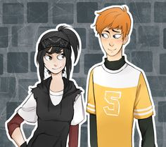 April and Casey [Genderbent] by TSCLonix.deviantart.com on @deviantART -- Aww, I love genderbent April and Casey