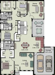 The layout of a house