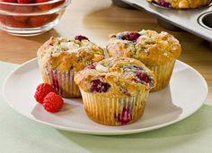 Raspberry White Chocolate Yogurt Muffins Recipe