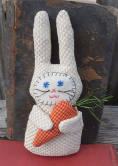 Fabric Beige Bunny Rabbit by humblehrtdesigns on Etsy, $7.00