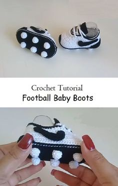 Crochet baby 340584790571887802 - Crochet Football Baby Boots Source by nellybcreations Crochet Baby Boots, Crochet Baby Clothes, Crochet Shoes, Crochet Slippers, Crochet Baby Sandals, Baby Patterns, Knitting Patterns, Crochet Patterns, Crochet Ideas