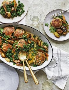 Try Donal Skehan's recipe with all the flavours of a full Sunday roast but with far less washing-up. A low-calorie winner, even with all those delicious roast potatoes