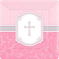 Pink Communion Blessings Religious Party Supplies - Party City
