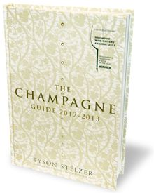 The Champagne Guide 2012-2013, the new champagne buying guide from International Champagne Writer of the Year Tyson Stelzer.    New in the 2012-2013 edition  More than double the size of the 2011 edition, with 356 pages reviewing and rating more than 400 champagnes.  The most up-to-date champagne guide, featuring all the latest, freshest releases, all tasted recently.  Fully independent assessments.