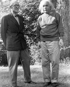le corbusier & albert einstein 1946