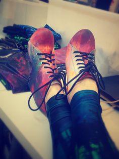 I've really been into Jeffery Campbell shoes lately! Black Milk x Jeffery Campbell - Galaxy Rainbow .