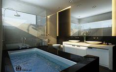 Black and White Modern Bathroom Design #lovely #cute #bathroom #design // #interiordesign