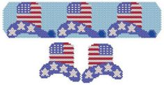 Hats Off Happy 4th of July Bracelet Beading Pattern from Bead Art by Ronit at Bead-Patterns.com