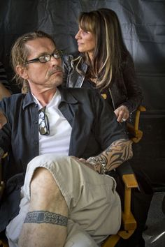 Kurt Sutter, Katey Sagal, photography by David Strick.