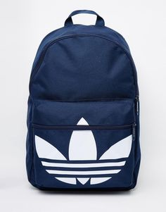 adidas Originals Backpack In Blue Mochila Adidas, Backpack Purse, Fashion Backpack, Cute Backpacks For School, Men's Backpacks, Stylish Backpacks, Adidas Bags, Cute Bags, Purses And Bags