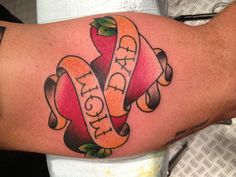 Mom and Dad Tattoo by Graham Mowers    I thought of Tyson when I saw this@