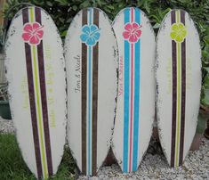 Beach Wedding Guest Book - Tropical SURFBOARD SIGN - Hibiscus - 4 ft tall - 48 x 15