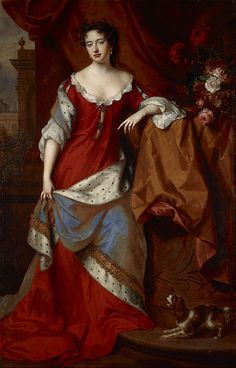 Anne I (1665-1714), Queen of England, Scotland, and Ireland (1702-1707) and of Great Britain and Ireland (1707-1714) in her own right. She was the daughter of King James II & VII of England, Scots, and Ireland and his 1st wife, Anne Hyde. She was Princess of Denmark and Norway, Duchess of Cumberland (1683-1708) as the wife of Prince Jørgen of Denmark and Norway, Duke of Cumberland. She had no children that survived to adulthood.
