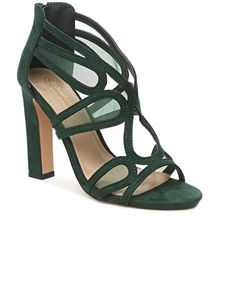 Block Heels - Green The Vamps, Block Heels, High Heels, Pairs, Elegant, Green, Fashion, Boots, Classy