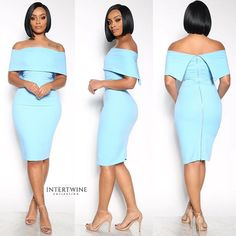 NEW LENGTH SIZE ADDED THE 'POLISHED RUNWAY MID-ZIP DRESS in BABY BLUE' is our unique glam item that will give your style the lastest trending feel.  Shop our latest dress NOW! Click the Link In Our Bio to Purchase! Shop IntertwineCollection.com || #intertwineCollection Latest African Fashion Dresses, Latest Dress, Blazer Dress, Black Models, Dark Fashion, Baby Blue, How To Look Better, Strapless Dress, Runway