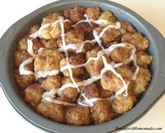 Homemade Cinnamon Roll Bites Recipe | Handy & Homemade