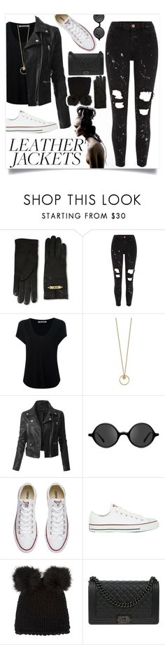 """10/31/17"" by queenleci ❤ liked on Polyvore featuring Moschino, River Island, Alexander Wang, LE3NO, Muse, Converse, Barneys New York and Chanel"