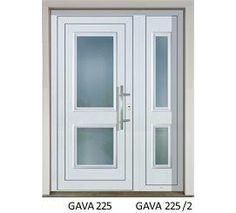 GAVA 225+225/2 Biela vstupné dvere White Doors, Exterior Doors, Bathroom Medicine Cabinet, Tall Cabinet Storage, Entry Doors, Outdoor Gates, External Doors