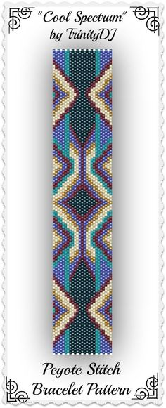 New pattern listed in my Etsy shop: Cool Spectrum - Odd Count Peyote Stitch Bracelet Pattern - One of A Kind In The Raw Design. Please follow this link for more info: www.etsy.com/...: