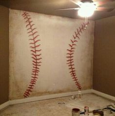 Awesome baseball wall( in the making)