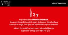Hazlo por mí. Vota en #PremiosInnovación, son dos minutos, aquí> www.premiosalainnovacion.es/votacion.