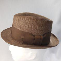 8212f62d4cb Vtg Brown Straw Panama Mens Hat 6 3 4 Ribbon Band Union Label USA Price  Sticker  FifthAvenueLee  Panama  Everyday