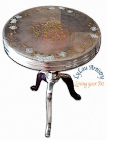 Glittered table tops rejuvenation project