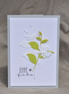 Bonne fête Maman !                                                                                                                                                                                 Plus Birthday Greeting Cards, Greeting Cards Handmade, Card Making Templates, Leaf Cards, Pretty Cards, Card Sketches, Sympathy Cards, Card Tags, Paper Cards