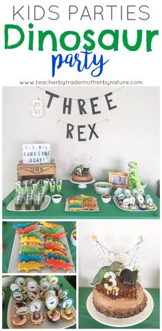 Planning a Dinosaur party for your RAWRSOME child? Check out all the details of my son's simple, yet effective Dinosaur themed birthday. Dinosaur Birthday Party, 3rd Birthday Parties, Birthday Ideas, Dinosaur Party Decorations, Birthday Party Decorations, Dino Kids, Party Time, Teacher, Kiwi
