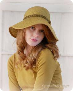 Golden Summer Wide Brim Straw Hat