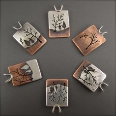 Handcrafted nature inspired tree pendants at Beth Millner Jewelry.