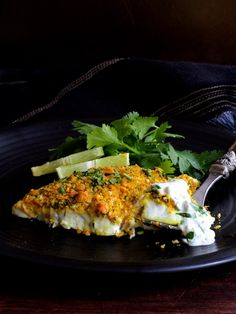 Find crispy, crunchy Curried Chickpea-Encrusted Barramundi with Jalapeno - Lime Tartar Sauce and other simply great recipes at From a Chef's Kitchen Baked Seafood Recipe, Grilled Seafood, Fish And Seafood, Seafood Recipes, Cooking Recipes, Fish Recipes, Fish Dishes, Seafood Dishes, Tasty Dishes
