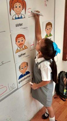 teaching pronouns Teaching Pronouns, Pronoun Activities, Teaching Grammar, Teaching Kindergarten, Classroom Activities, Teaching English, Alphabet Activities, English Grammar, Classroom Ideas