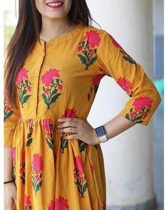 Pink block maxi dress is part of Yellow maxi dress - Salwar Designs, Kurta Designs Women, Kurti Designs Party Wear, Dress Neck Designs, Blouse Designs, Feeding Dresses, Yellow Maxi Dress, Mode Hijab, Indian Designer Wear